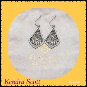 Kendra Scott Addie Silver Earrings Silver Filigree